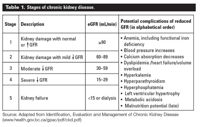 As You Can See From The Chart Above In Chronic Kidney Disease Stage 3 Ckd Your Function Or Gfr Has Reduced To A Level Of 59 30 Ml Mim